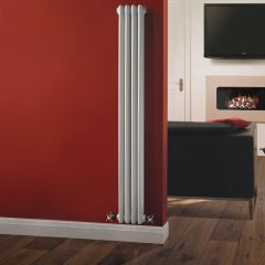 Radiatore di Design Verticale a 3 Colonne Tradizionale - Bianco - 1500mm x 203mm x 100mm - 694 Watt - Regent