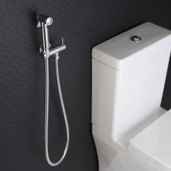 Kit Doccetta per WC con Doccetta, Clip Murale di Supporto e Flessibile