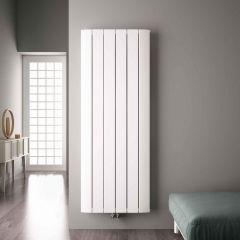 Radiatore di Design Verticale con Attacco Centrale - Alluminio - Bianco - 1800mm x 565mm x 45mm - 2303 Watt - Aurora