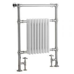 Radiatore Scaldasalviette Tradizionale - Cromato e Bianco - 930mm x 620mm x 119mm - 683 Watt - Marchesa