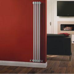 Radiatore di Design Verticale Doppio Tradizionale - Bianco - 1500mm x 203mm x 68mm - 548 Watt - Regent