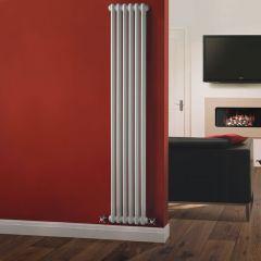 Radiatore di Design Verticale Doppio Tradizionale - Bianco - 1800mm x 290mm x 68mm - 934 Watt - Regent