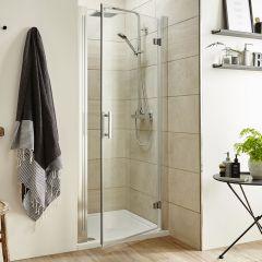 Porta Doccia Pivotante 900 x 1850mm - Profilo in Alluminio Cromato