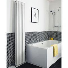 Radiatore di Design Verticale Doppio Tradizionale - Bianco - 1800mm x 383mm x 80mm - 1671 Watt - Saffre