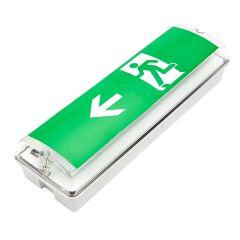 Faretto di Emergenza di Uscita con Luci LED - Sinistra