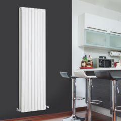 Radiatore di Design Verticale Doppio - Bianco - 1780mm x 472mm x 72mm - 1931 Watt - Sloane