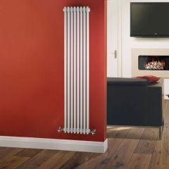 Radiatore di Design Verticale a 3 Colonne Tradizionale - Bianco - 1800mm x 383mm x 100mm - 1558 Watt - Regent