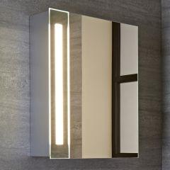 Armadio con Specchio e Faretto a LED per Stanza da Bagno 600x400mm - Bala
