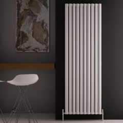 Radiatore di Design Verticale Doppio - Bianco - 1800mm x 590mm x 76mm - 2506 Watt - Revive Air