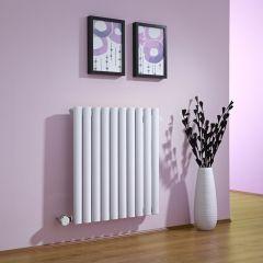 Radiatore di Design Elettrico Orizzontale - Bianco - 635mm x 595mm x 55mm  - Elemento Termostatico  600W  - Revive