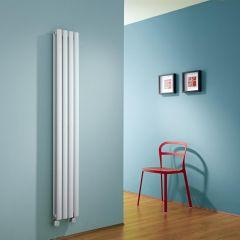 Radiatore di Design Elettrico Verticale Doppio - Bianco - 1600mm x 236mm x 78mm - Revive