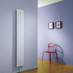 Radiatore di Design Elettrico Verticale - Bianco - 1600mm x 236mm x 56mm - Revive