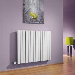 Radiatore di Design Elettrico Orizzontale - Bianco - 635mm x 834mm x 54mm - Sloane
