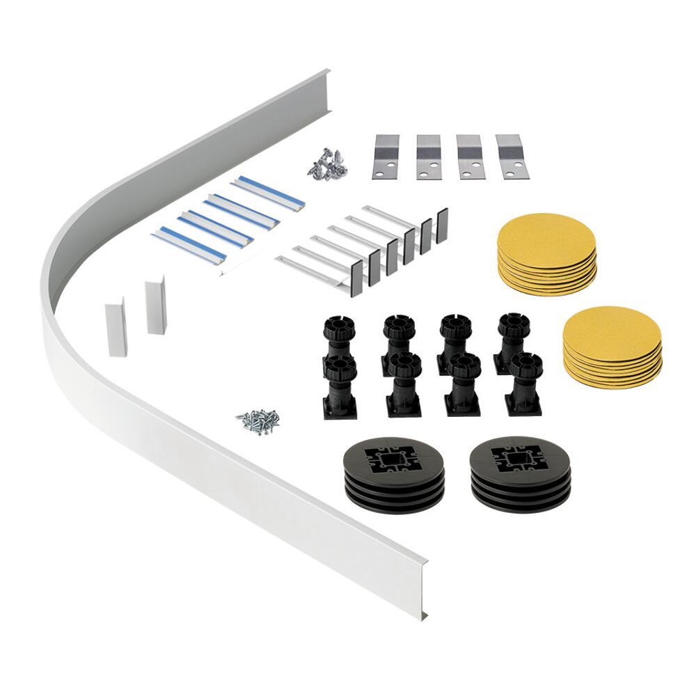 Kit con Struttura di Elevazione per Piatti Doccia Angolari e Semicircolari Maxon