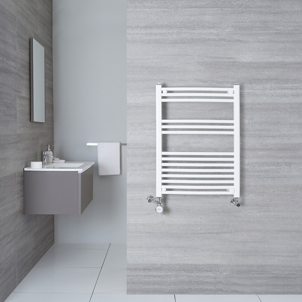 Radiatore Scaldasalviette Misto Curvo - Bianco - 800mm x 500mm x 45mm - 426 Watt - Etna