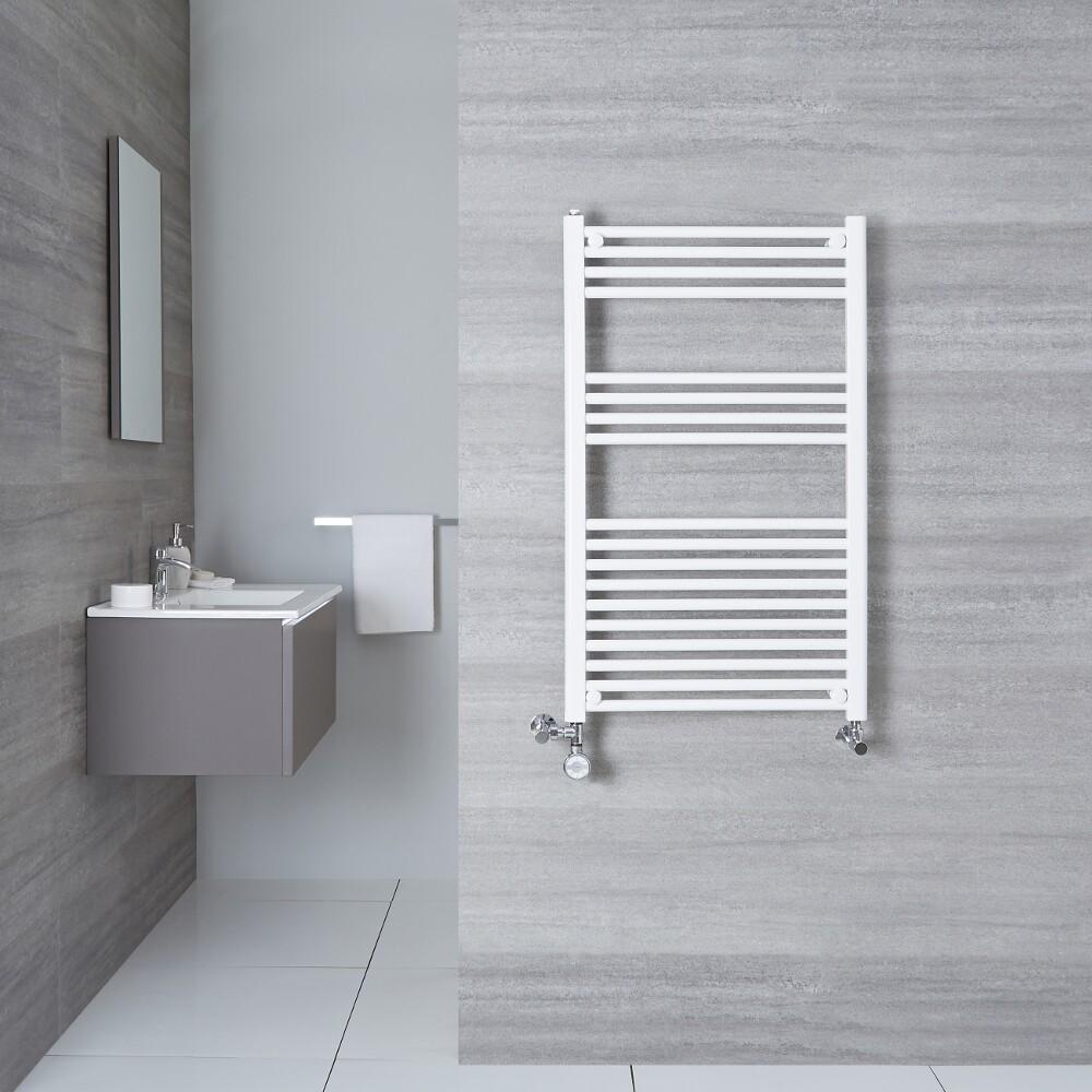 Radiatore Scaldasalviette Misto Piatto - Bianco - 1000mm x 500mm x 30mm - 540 Watt - Etna