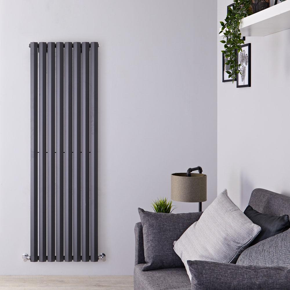Radiatore di Design Verticale - Antracite - 1600mm x 560mm x 60mm - 1261 Watt - Rombo