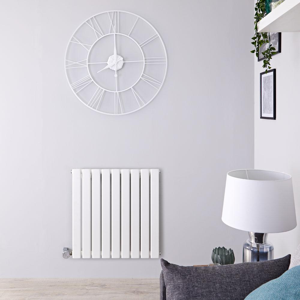 Radiatore di Design Elettrico Orizzontale - Bianco - 635mm x 630mm x 46mm - Delta