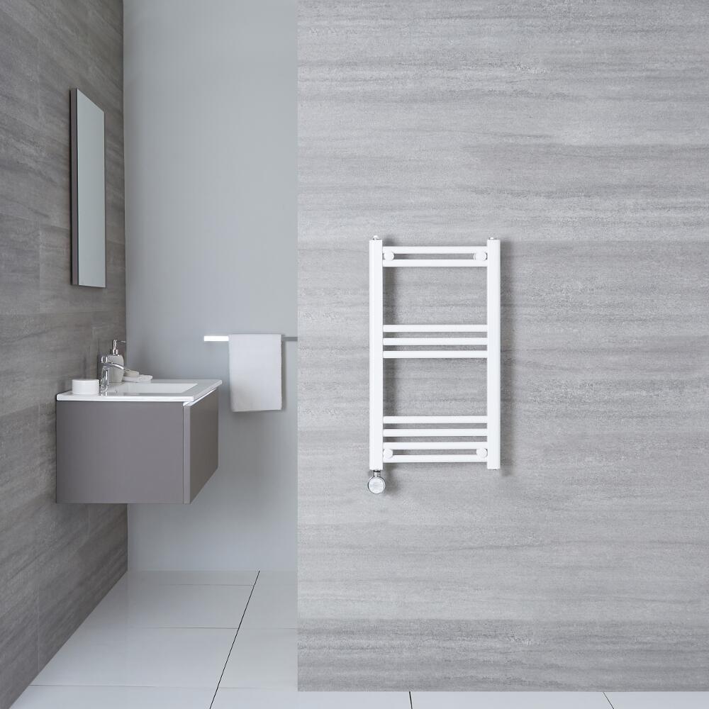 Radiatore Scaldasalviette Elettrico Piatto - Bianco - 700mm x 400mm x 30mm - Etna