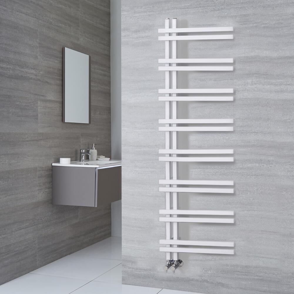 Radiatore Scaldasalviette di Design - Alluminio - Bianco - 1600mm x 500mm - 701 Watt - Tika