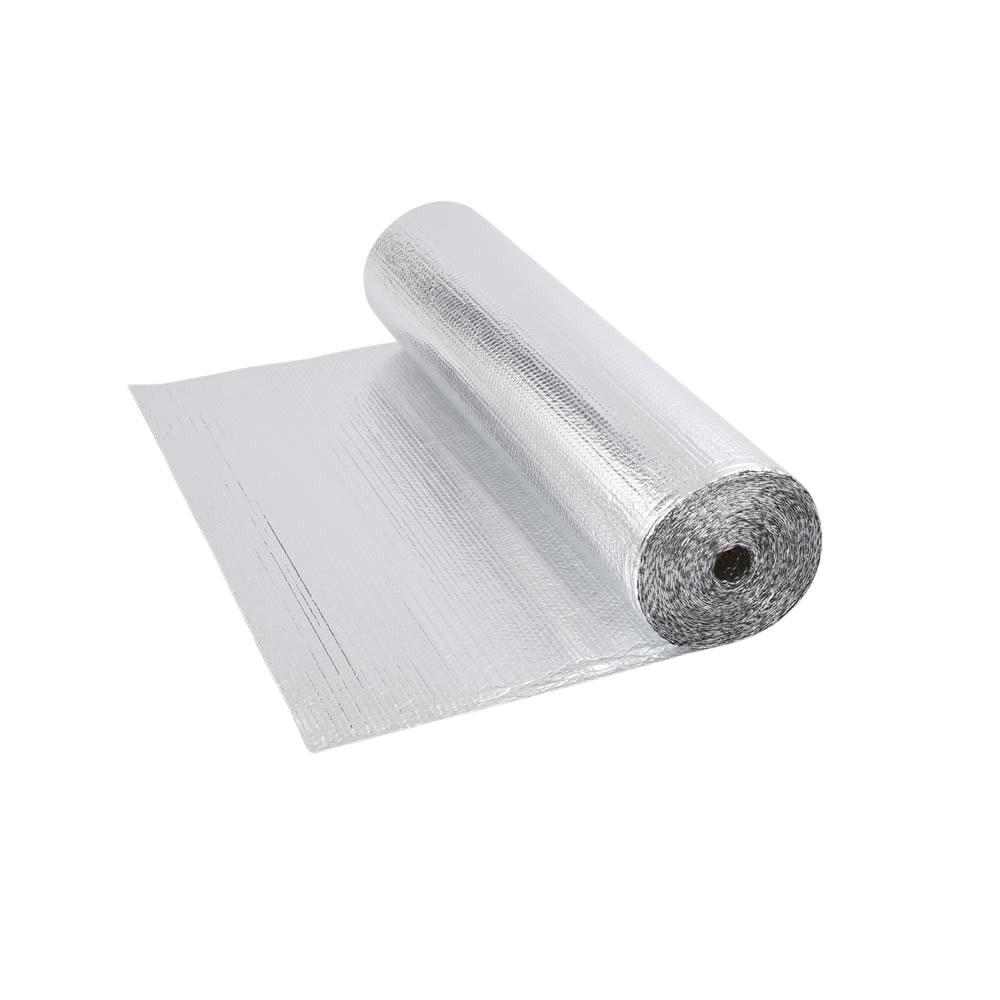 Isolante Termico Multistrato a Bolle d'Aria con Due Fogli di Alluminio - 5m x 1,2m - 6m2