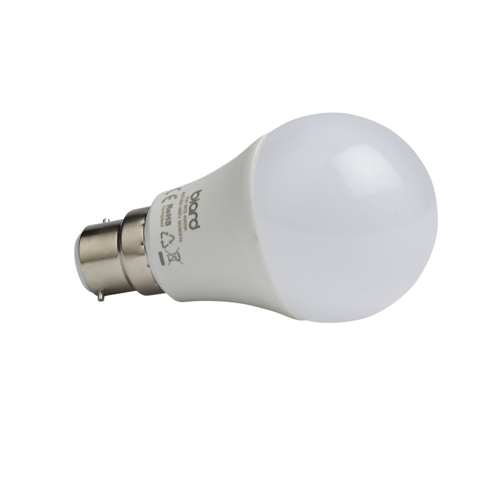 Biard Kit con 6 Lampadine LED B22 7W Non Dimmerabile