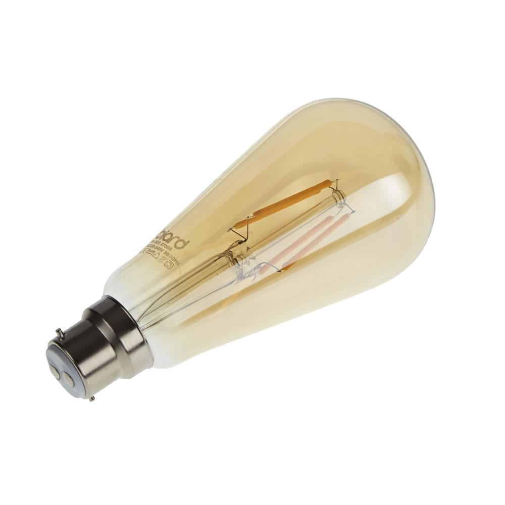 Biard Kit con 6 Lampadine Dimmerabili con Filamenti LED B22 6W in Stile Tradizionale