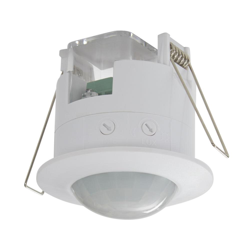 Sensore PIR ad Incasso a Soffitto 360°  Bianco - Powermaster