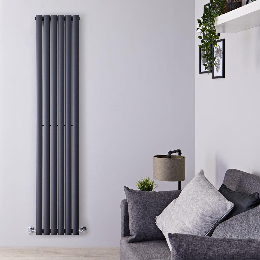 Radiatore di Design Verticale - Antracite - 1780mm x 354mm x 56mm - 892 Watt - Revive