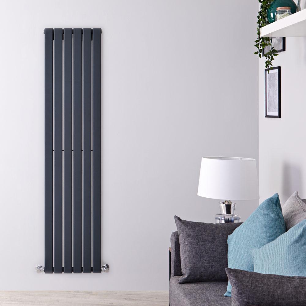 Radiatore di Design Verticale - Antracite - 1780mm x 420mm x 47mm - 987 Watt - Delta