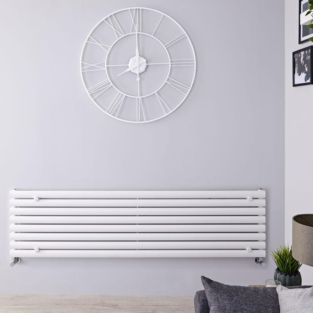 Radiatore di Design Orizzontale  - Bianco - 472mm x 1780mm x 56mm - 1162 Watt - Revive