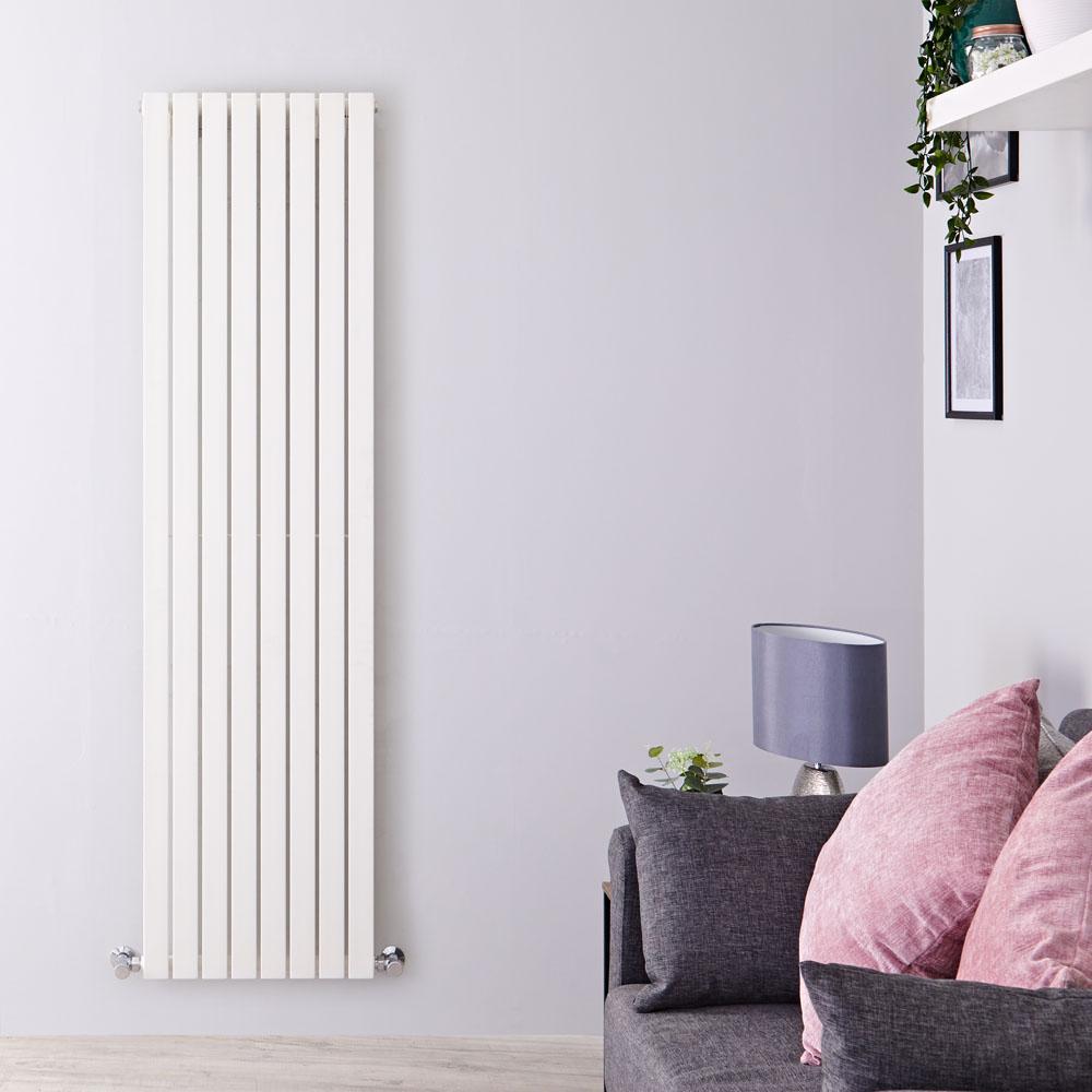 Radiatore di Design Verticale  - Bianco - 1780mm x 472mm x 53mm - 1196 Watt - Sloane
