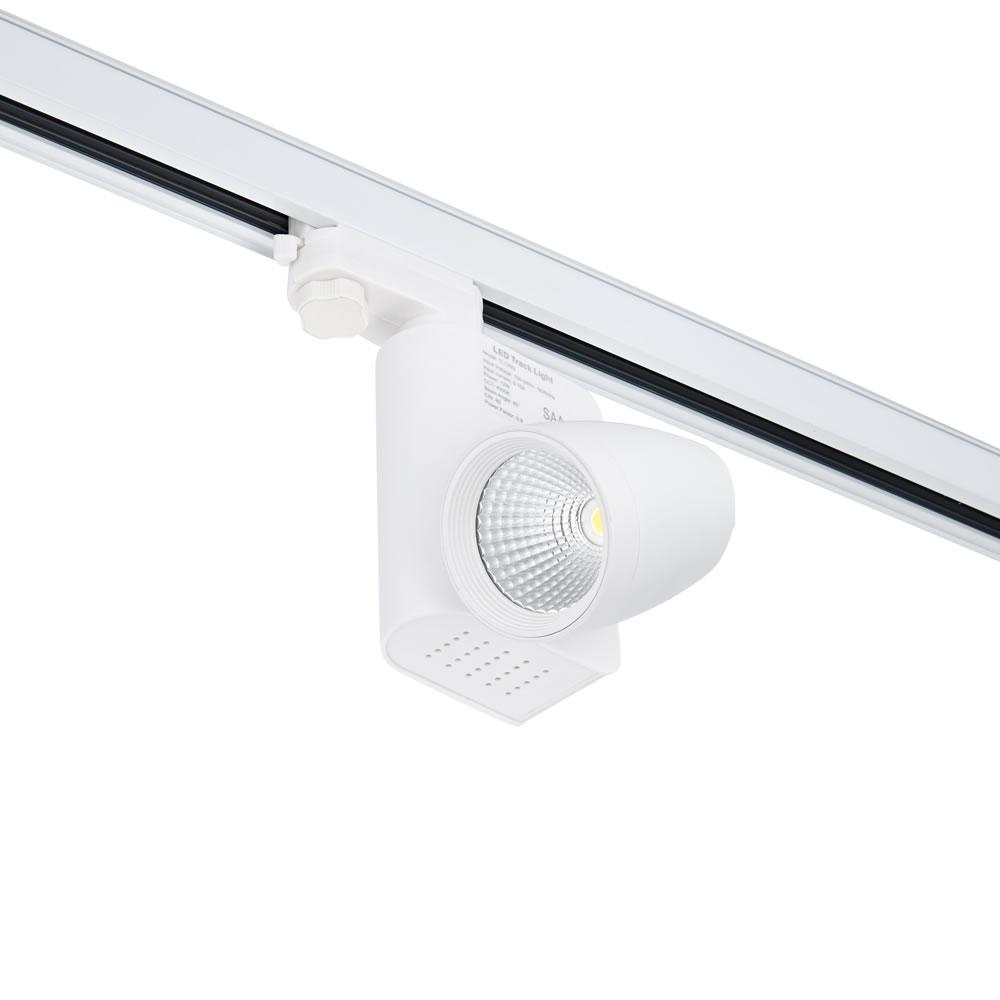 Biard Faretto LED 12W Bianco Per Binario Monofase