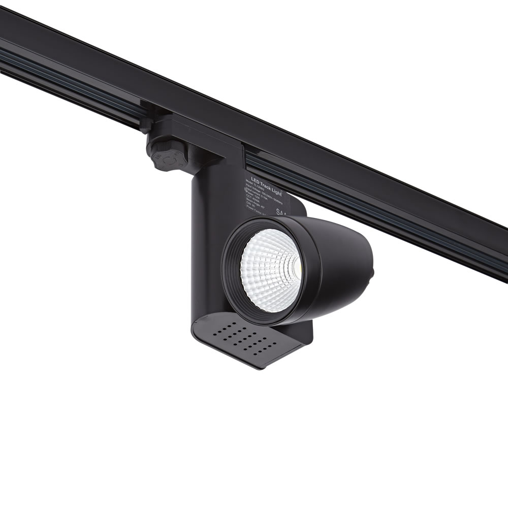Biard Faretto LED 25W Nero Per Binario Monofase