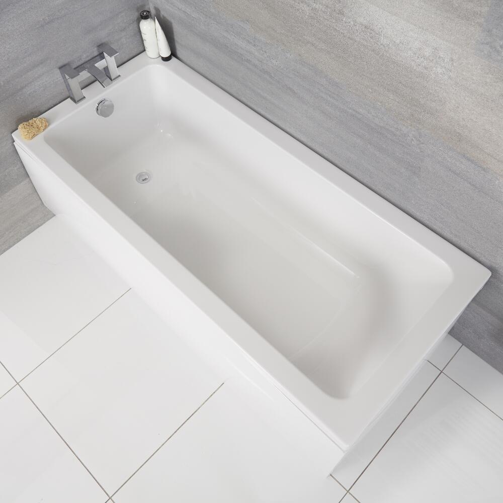 Vasca da Bagno Rettangolare 1700x750mm con Design Classico senza Pannello Vasca