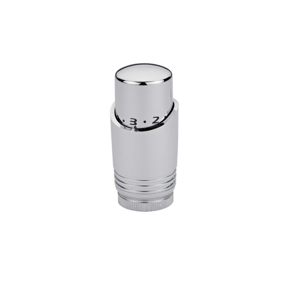 Testa Termostatica Cromata e Bianca per Radiatore o Scaldasalviette per Tubi in Rame 15mm