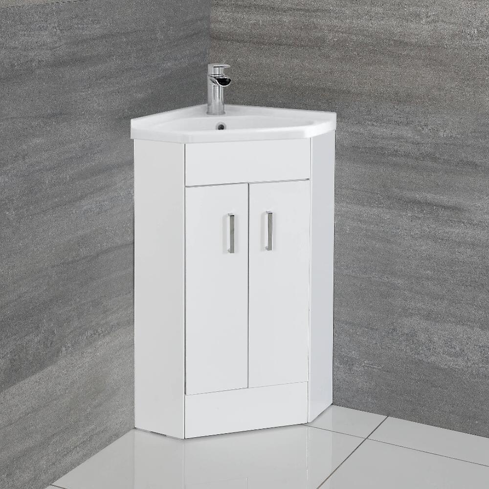 Lavandino Bagno Con Piede mobile lavabo bagno ad angolo con 2 ante da 555mm