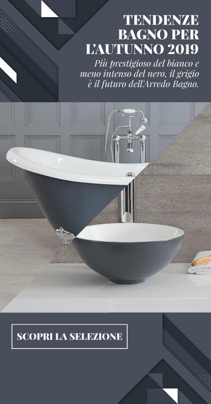 Più prestigioso del classico bianco e meno intenso dell'inflessibile nero, il grigio rappresenta il futuro dell'Arredo Bagno