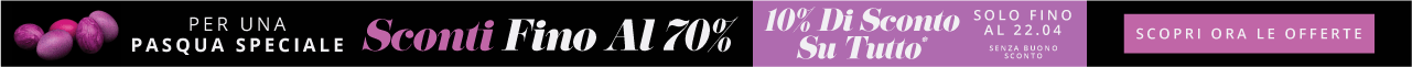 Per Una Pasqua Speciale Sconti Fino Al 70% Scopri Ora Le Offerte Solo Per Un Periodo Limitato 10% Extra Su Tutto* Solo Fino Al 22.04 Senza buono sconto