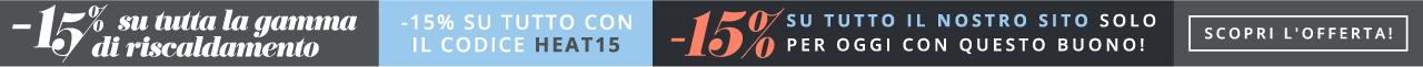 Offerta d'estate su riscaldamento -15% su tutto con il codice HEAT15